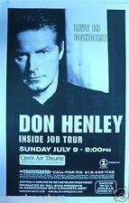 "DON HENLEY 2000 ""INSIDE JOB TOUR"" SAN DIEGO CONCERT POSTER - The Eagles"