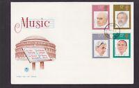 1980 Great Britain UK FDC Music Dursley N-50 barbirolli beecham sargent wood