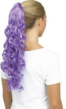 40/'/' Clip on Pig Tail w// Short Pony Tailed Base Wig Framing Eggplant Purple NEW