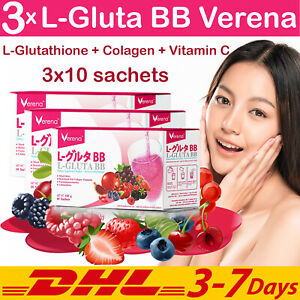 3x L-Gluta BB Verena Collagen Vitamin C Mixed Berry Anti Aging Wrinkle Drink