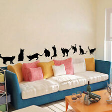 Multi Shape Black Cat Wall Decals/Adhesive Family Wall Stickers Mural Art SI