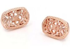 Rose Gold Filigree Earrings Studs Kendra + Chloe Design by Isabel J. Scott New