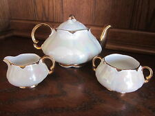 Heatmaster - Irridescent / Gold Teapot with Creamer and Sugar Bowl