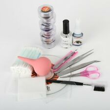 Pro False Eyelash Extension Kit Set Eyelash Nipper Makeup Cosmetic Tool