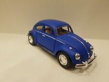 1967 Vw volkswagen Classical Beetle matte blue kinsmart model car 1/32 scale new