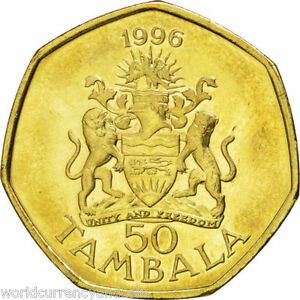 MALAWI 50 TAMBALA KM-30 1996 x 1 Pce MULUZI COAT OF ARMS UNC MONEY AFRICA COIN