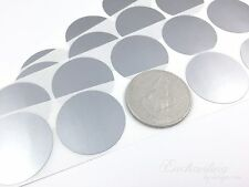 """500 - Scratch Off Labels 1.50"""" Round Silver Stickers"""