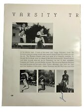 JACKIE ROBINSON SIGNED TRACK & FIELD YEARBOOK PAGE PRE DODGERS JSA COA AUTOGRAPH