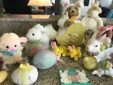 Lot of Easter Bunnies - 1 Hallmark, Lamb, Chick, Eggs and other decorative items