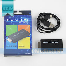PS2 to HDMI Audio Video AV Adapter Converter w/ 3.5mm Audio Output for HDTV Hot