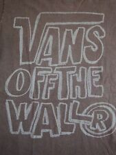 Vans: Off the Wall Skateboards Skating Apparel Skate Boards Soft Brown T Shirt S