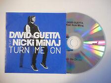DAVID GUETTA feat. NICKI MINAJ : TURN ME ON ♦ CD SINGLE PORT GRATUIT ♦