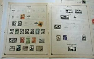 Early Mexico Stamp Collection- Used & MH 1861-1940 Includes Air Mail & Officials