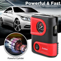AUDEW Electric Portable Car Bike Tyre Inflator Air Compressor Pump 12V DC LED