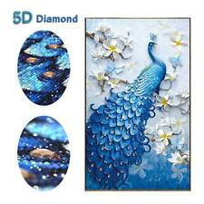 5D Diamond Embroidery Painting DIY Peacock Art Stitch Craft Kit Home Wall Decor