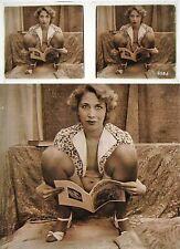 Stereo photo on glass erotic nu feminin 1900 - 1920/678 nude risque