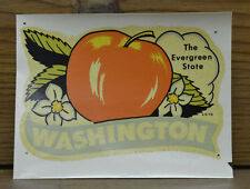 ORIGINAL VINTAGE TRAVEL DECAL WASHINGTON APPLE BLOSSOM OLD HOT ROD CUSTOM RV WA