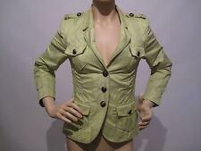 BASLER  Short Lime Green Waxed Cotton Jacket Mac Blazer 10