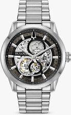 Bulova Sutton Automatic Skeleton Dial Mens Watch 96A208