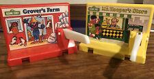 Vintage 1976 Sesame Street Grover's Farm & Mr Hooper's Store Gate Storefront Toy