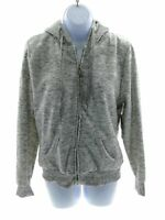 Special One Juniors Spade Die Gray Faux Fur Lined Hooded Jacket Size Medium