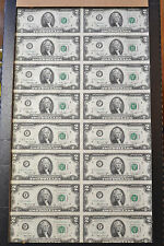 #4063 - 1976 F Series - Uncut 16 Note Sheet - Star Notes