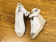 JOIE KAEL LACE UP SUEDE WEDGE ESPADRILLE SHOES NWOB SIZE 7(37.5)