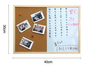 Wood Frame Cork Board Message Combination Drawing Board Bulletin Magnetic Marker
