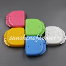Denture Storage Dental Mouthguard Container Case Box Protective Orthodontic