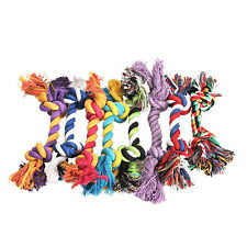 Puppy Dog Pet Tug War Play Cotton Rope Chew Toy with Knot Dental clean Strong