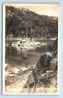 Big Bear Lake, CA - EARLY VIEW OF TREASURE ISLAND - GRAYS CAMP RPPC - Z3