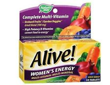 Nature's Way Alive Women's Energy Multivitamin ~ 50 Tablets Vitamins ~ Exp 11/20