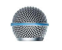 Microphone Grille RK13G fits Beta58 / Beta58a w Blue Ring