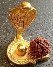 SHIVLING METAL MINI STATUE SHIVA LING WITH NAAG HINDU RUDRAKSHA YOGA MEDITATION