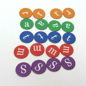 2011 Brain Quest  Smart Game Replacement Parts -  20 Letter Scoring Tokens