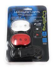 Led Bicicletta Faro Anteriore e Luce Posteriore Set Lampeggiante Stroboscopico