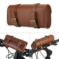 B-SOUL Retro PU Leather Bicycle Bike Front Frame Handlebar Bag Saddle Pouch Pack