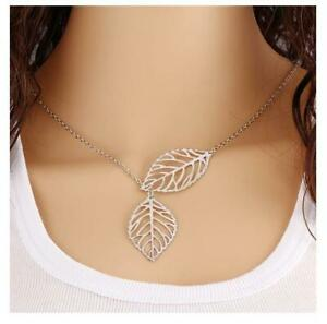 Women's Fashion Jewelry  Silver Plated Leaf Pendant Necklace