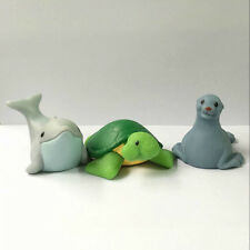 3pcs Fisher-Price Little People Zoo Animal Seals Dolphin Turtle figure Baby Doll