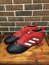 ADIDAS ACE 17.1 PRIMEKNIT FG SOCCER CLEATS MEN'S SIZE US 13 BLACK/RED BB4316