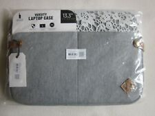 "Varsity 140278-17 Laptop Case 13,3"" grau mit Spitze"