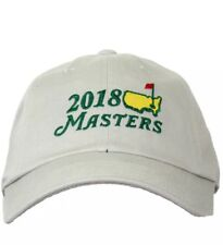 2018 Dated Masters Golf STONE Khaki Light Tan Caddy Slouch Hat AUGUSTA NATIONAL