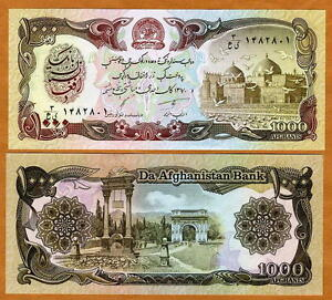 Afghanistan, 1000 Afghanis, 1979-1991, P-61, UNC > Taliban Banknote