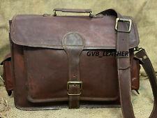 Real Goat Leather Business Laptop Special Briefcase Case Attache Shoulder Bag