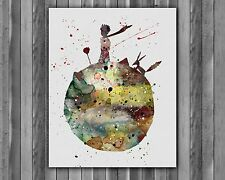 The Little Prince Art Print poster painting Children's Room Decor-DIGITAL file