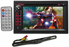 "Rockville RVD6.2 2-Din 6.2"" Car DVD/CD/Radio/Player/Stereo Bluetooth/USB+Camera"