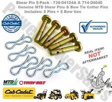 OEM 738-04124A, 714-04040 Auger Shear pins, MTD, CUB CADET, Troy-bilt Snowblower