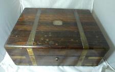Caja de vanidad VICTORIANA COROMANDEL & Latón Plata Frances Douglas 1840 A649417
