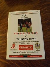 CIRENCESTER TOWN v TAUNTON TOWN - Southern Lge 2012/13