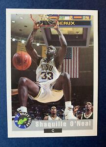 1992 CLASSIC SHAQUILLE O'NEAL #1 ROOKIE CARD DRAFT PICKS, HIGH GRADE SHAQ RC